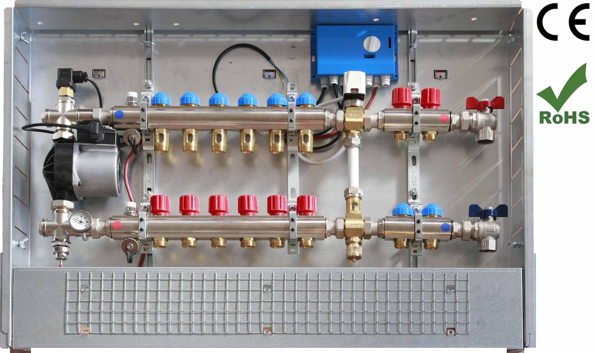 Omniterm s r l collettori a bassa temperatura - Collettori per riscaldamento a pavimento ...